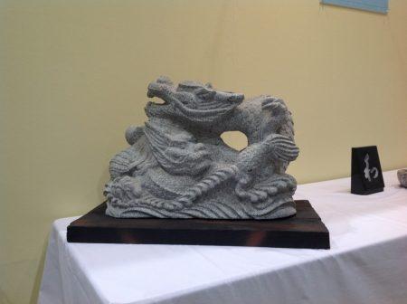 福島県産初森御影石 二頭龍