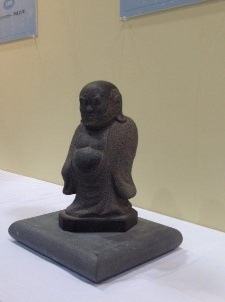 インド産黒御影石 達磨大師
